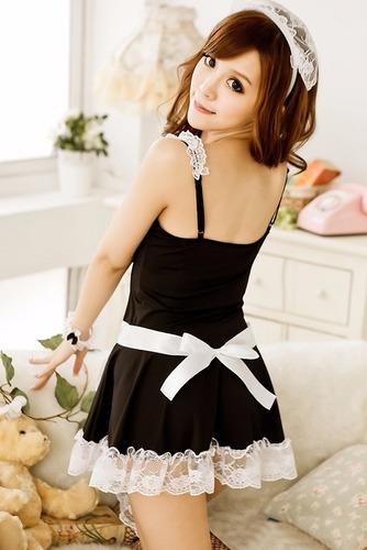 lenceria hermoso vestido de sirvienta sexy envio gratis