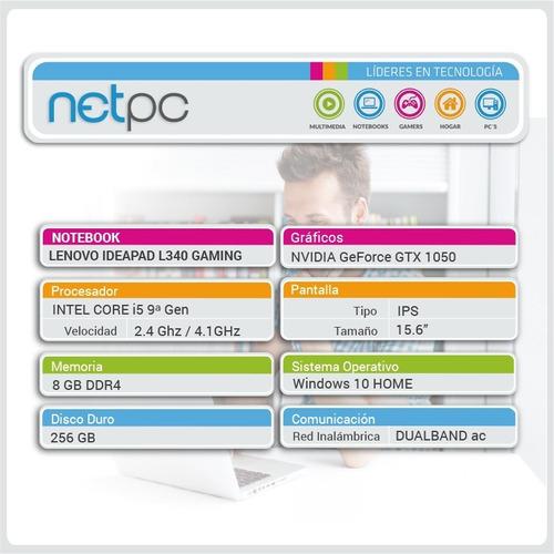 lenovo ideapad l340 gaming 15.6/i5/256gb/8gb/ips - netpc