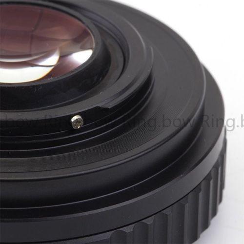 lente focal de reductor velocidad booster adaptador nikon f