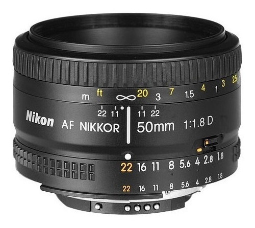 lente nikon 50mm af f/1.8d nikkor garantia 1 año nikon