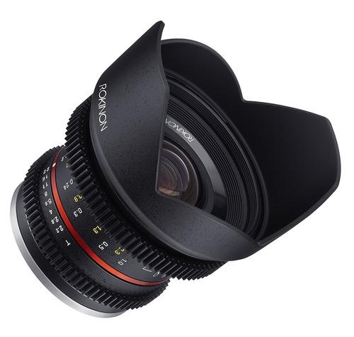 lente rokinon cine cv12m-mft 12mm t2.2 cine fixed lens for