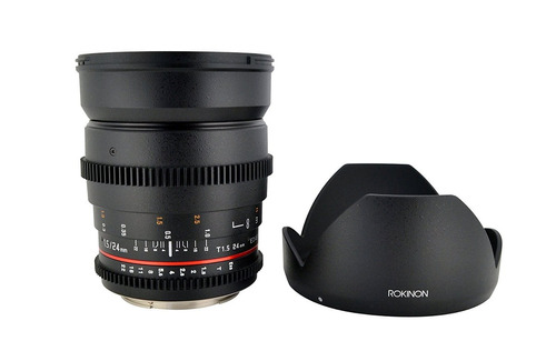 lente rokinon cv24m-c 24mm t1.5 cine wide angle lens for