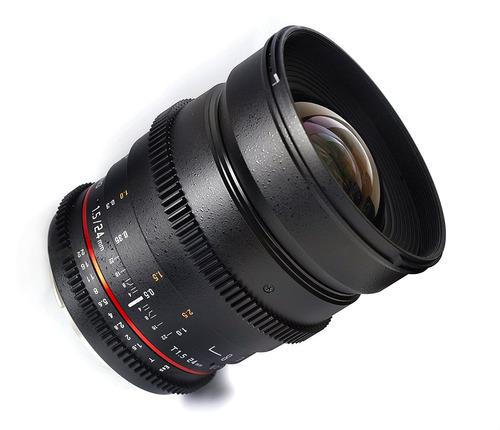 lente samyang cine sycv24m-n 24mm t1.5 cine wide angle
