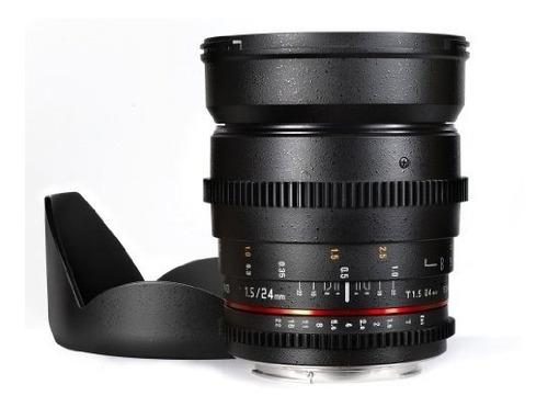 lente samyang cine sycv24m-nex 24mm t1.5 cine wide angle