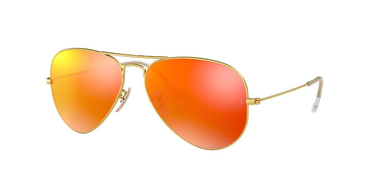 c7bac410f4 Lente Sol Ray Ban Aviador Espejado Naranja - U$S 370,00 en Mercado Libre