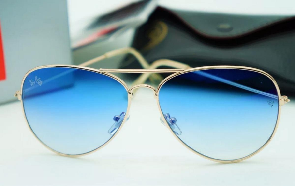 ef3c35383e Lentes Anteojos Ray-ban Aviador 3025/3026 Azul Acero - $ 1.590,00 en ...