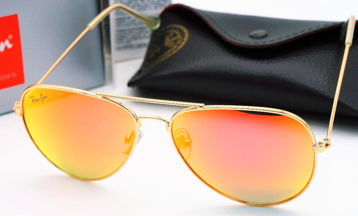 3deb8702e lentes anteojos ray-ban aviador 3025/3026 dorado naranja. Cargando zoom.