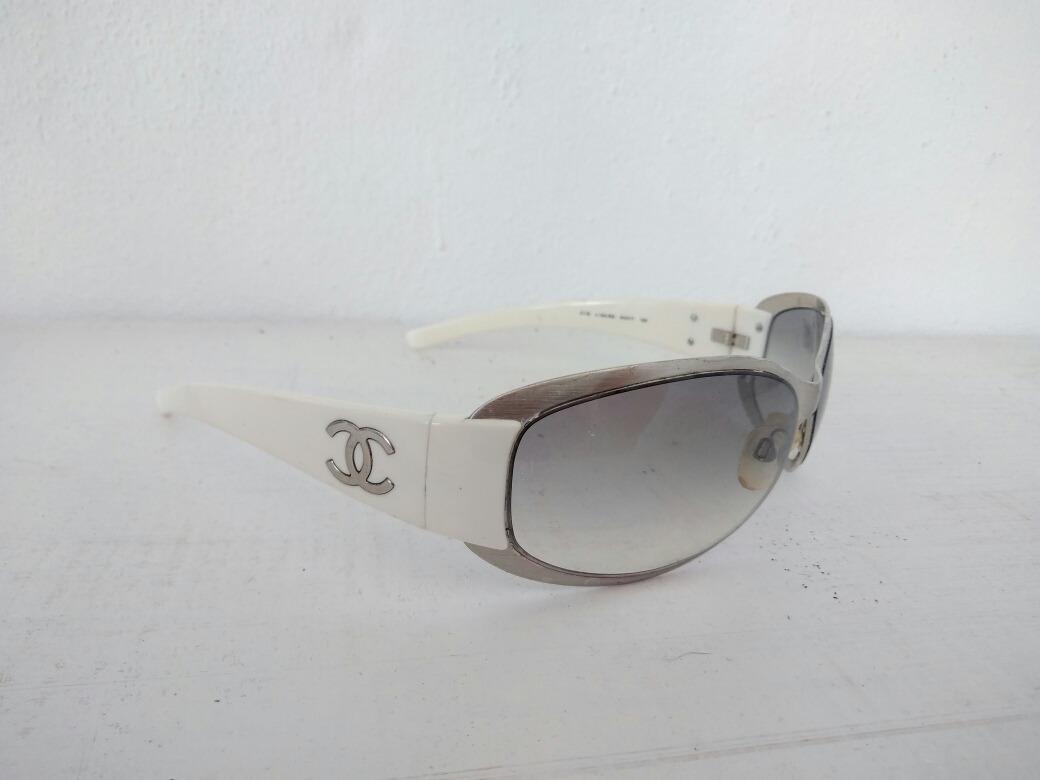 Cargando zoom... lentes de sol blancos chanel ... a92749e2045b