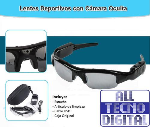 lentes de sol cámara espía videos ocultos con estuche
