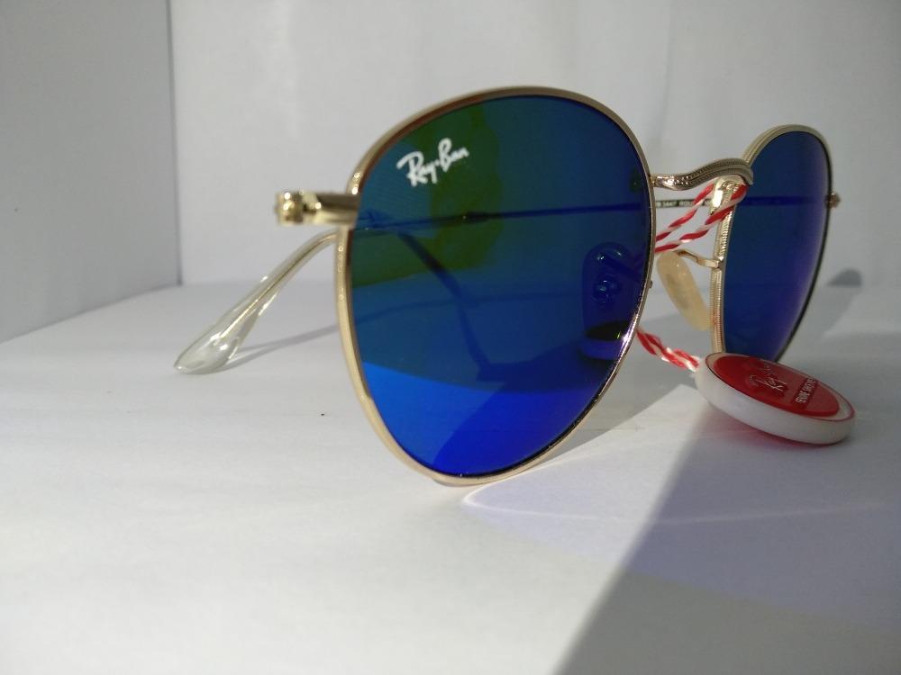 7330911abc604f Lentes De Sol Ray Ban Round Metal Mod .  Rb3447( Azul) -   2.300,00 ...
