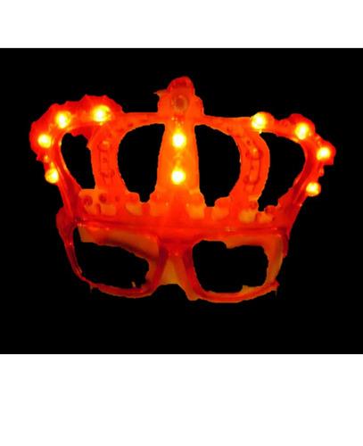 lentes luminosos corona cotillón