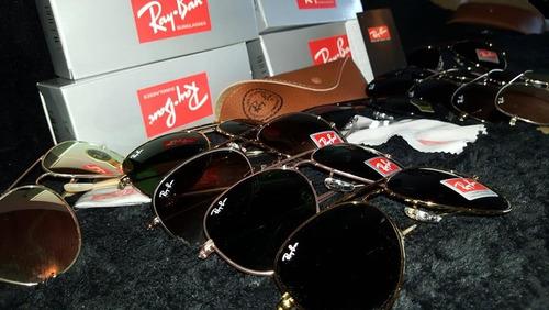 lentes ray-ban aviador negro, verde !!! stock !!!!