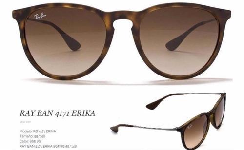 lentes ray ban erika modelo 4171 negro o marrón originales