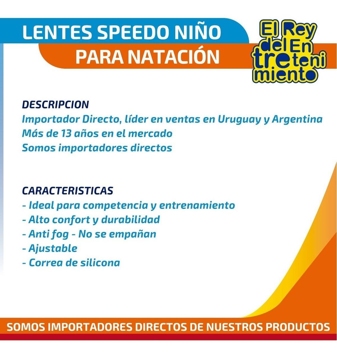 ef64587aa359 Lentes Speedo Natación Jet Jr Piscina Niño + Regalo - El Rey