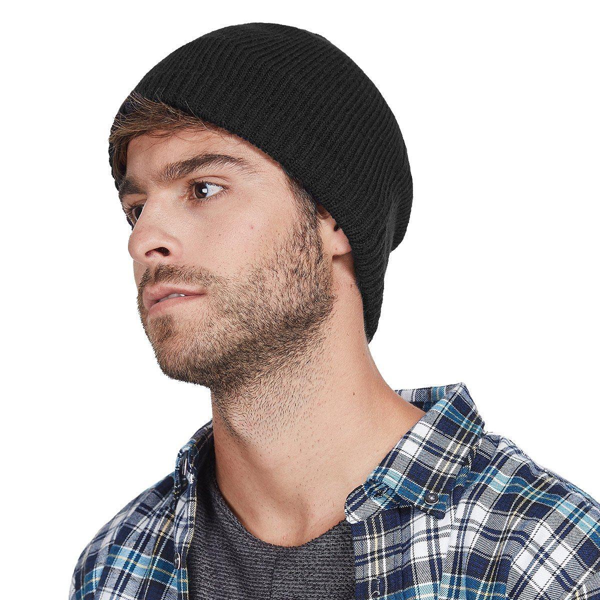 36444b2843044 lethmik forro polar gorro de lana para hombre de color só. Cargando zoom.