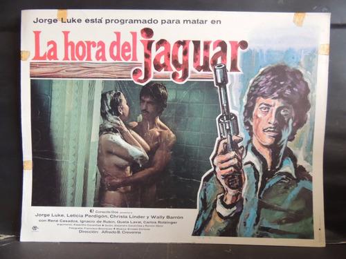 leticia perdigon la hora del jaguar cartel / lobby card
