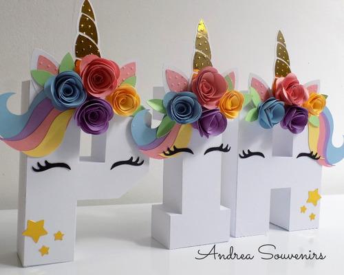 letra decorada cumple 15 años mesa dul baby unicornio granja