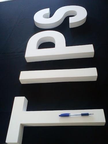 letras corpóreas - carteles - polifan