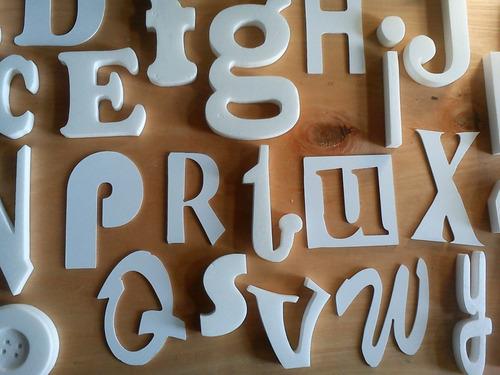 letras corpóreas - polifan y pvc