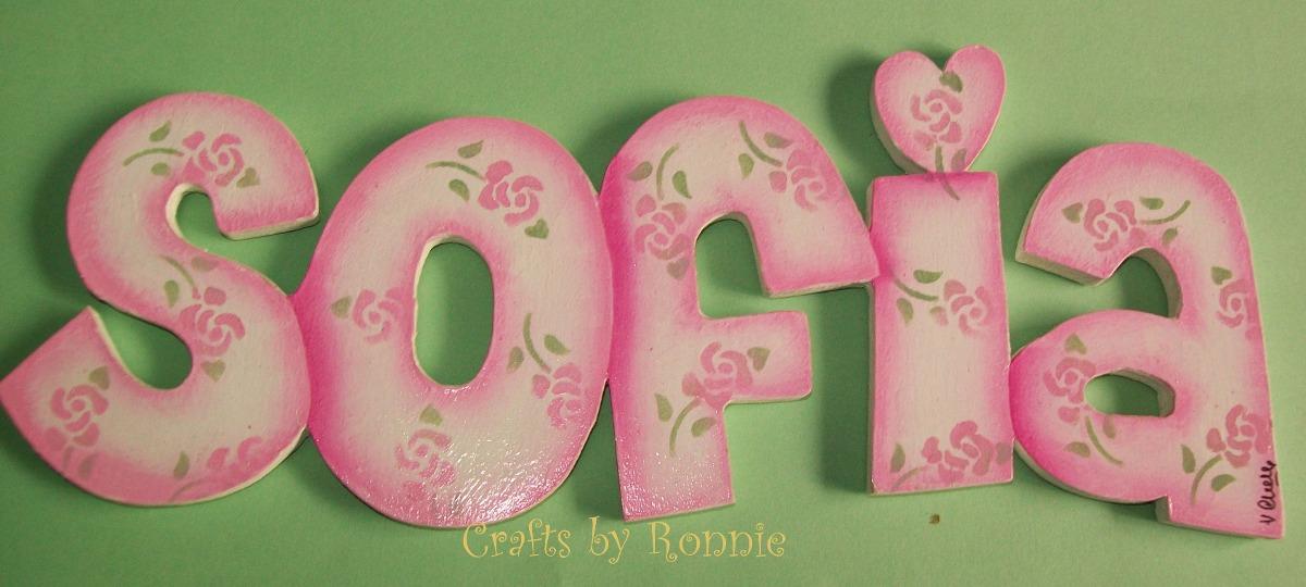 Letras decoradas para formar nombres 400 00 en mercado libre - Letras bebe decoracion ...