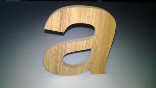 letras en madera