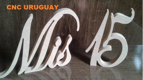 letras en madera mdf  para cumpleaños - decoracion