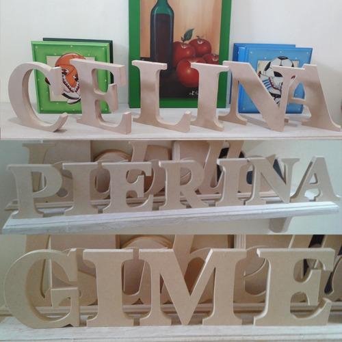letras en mdf de 18mm. 12cm de altura