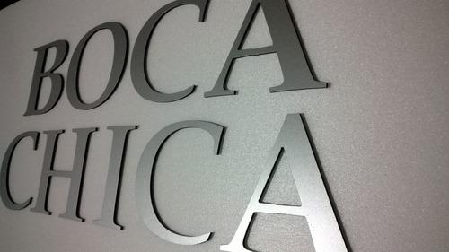 letras en metal - aluminio compuesto