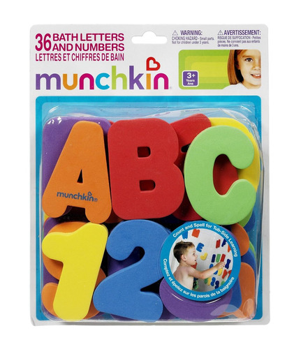 letras y numeros en goma eva para baño munchkin