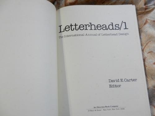 letterheads 1 - diseño cartas - david carter 1977