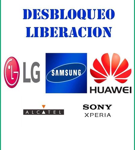 liberacion desbloqueo smartphones lg samsung sony huawei