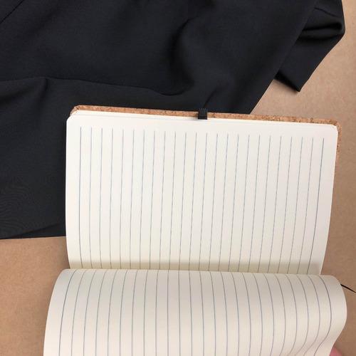 libreta textura corcho con renglones a5