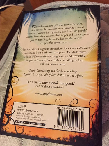 libro angel- l.a. weatherly. en inglés