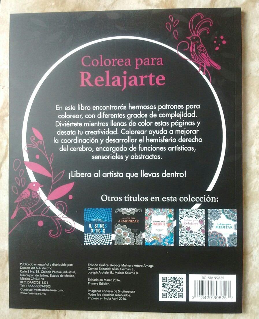 Libro Colorea Para Relajarte Hojas Desprendibles Mandalas - $ 132.00 ...