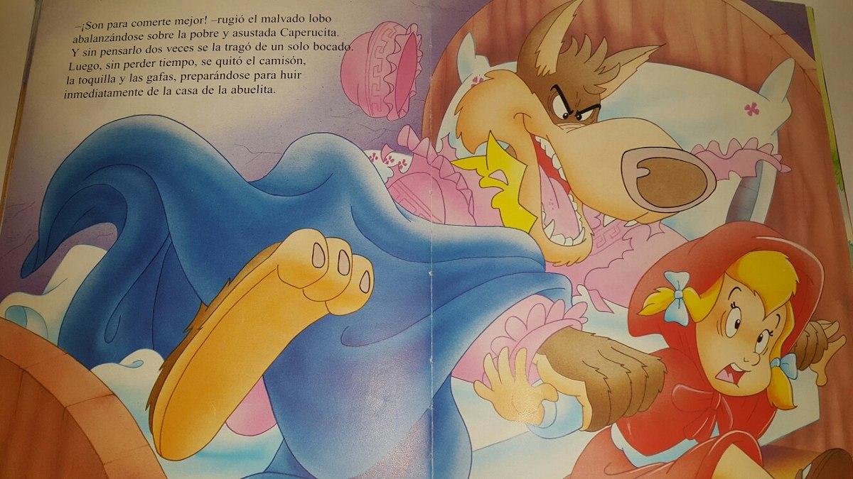 Caperucita Roja La Abuelita Y El Lobo Pelicula Porno libro con 3 cuentos clásicos para niños y niñas 148 páginas - $ 499,00