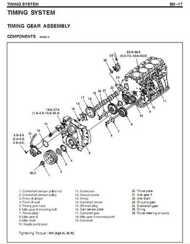 libro de taller hyundai motor diesel d4dd, 2000-2011.