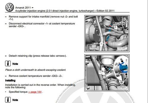 Libro De Taller Volkswagen Amarok  2011-2014