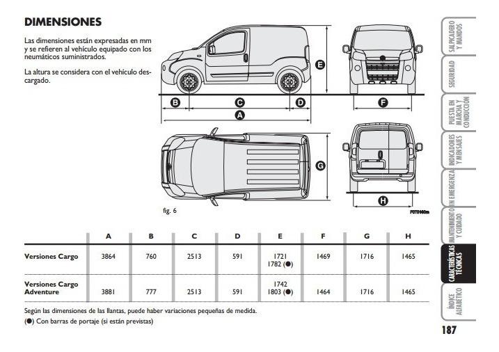 Libro De Usuario Fiat Fiorino  2007 - 2014