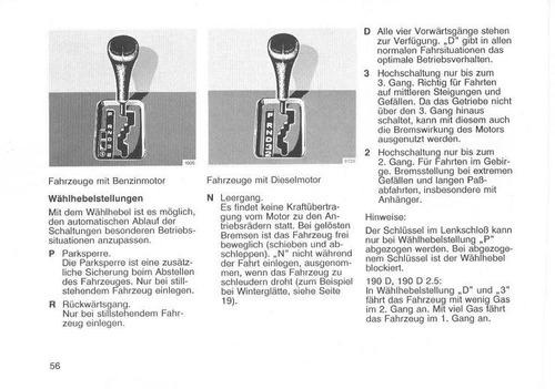libro digital usuario mercedes benz w201 (190), 1982-1993
