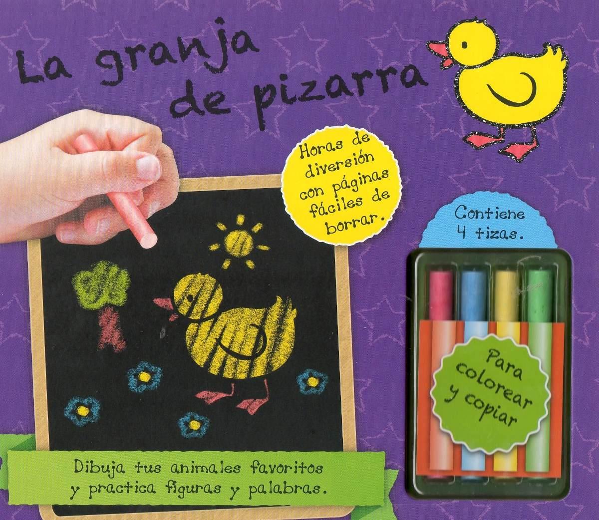 Libro: Granja De Pizarra (contiene 4 Tizas De Colores) - $ 460,00 en ...