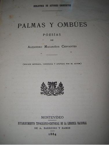 libro - palmas y ombues de alejandro magariños cervantes