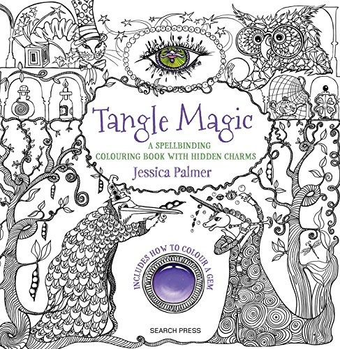 Libro Tangle Magic: A Spellbinding Colouring Book With Hid ...