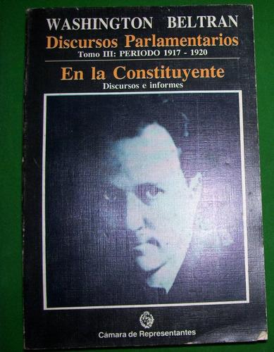 libro - washington beltran - discursos parlamentarios