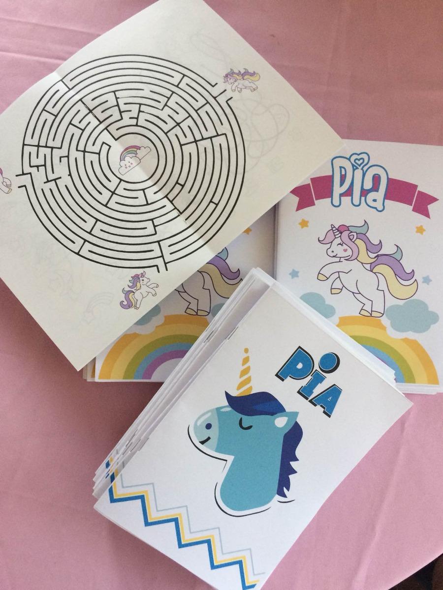 Libros Para Colorear, Souvenir Para Cumpleaños, Unicornio - $ 20,00 ...