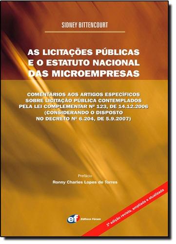 licitações públicas e o estatuto nacional das microempresas