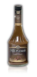 licor tres plumas dulce de leche/almendras 700 ml