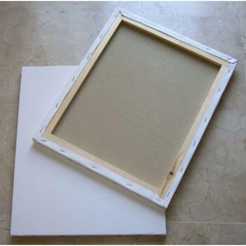 lienzo cuadro blanco con bastidores canvas 30 x 40