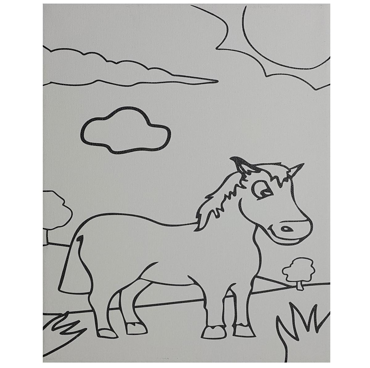 Lienzo Para Niños Cuadro Para Pintar Con Dibujo Infantil Y