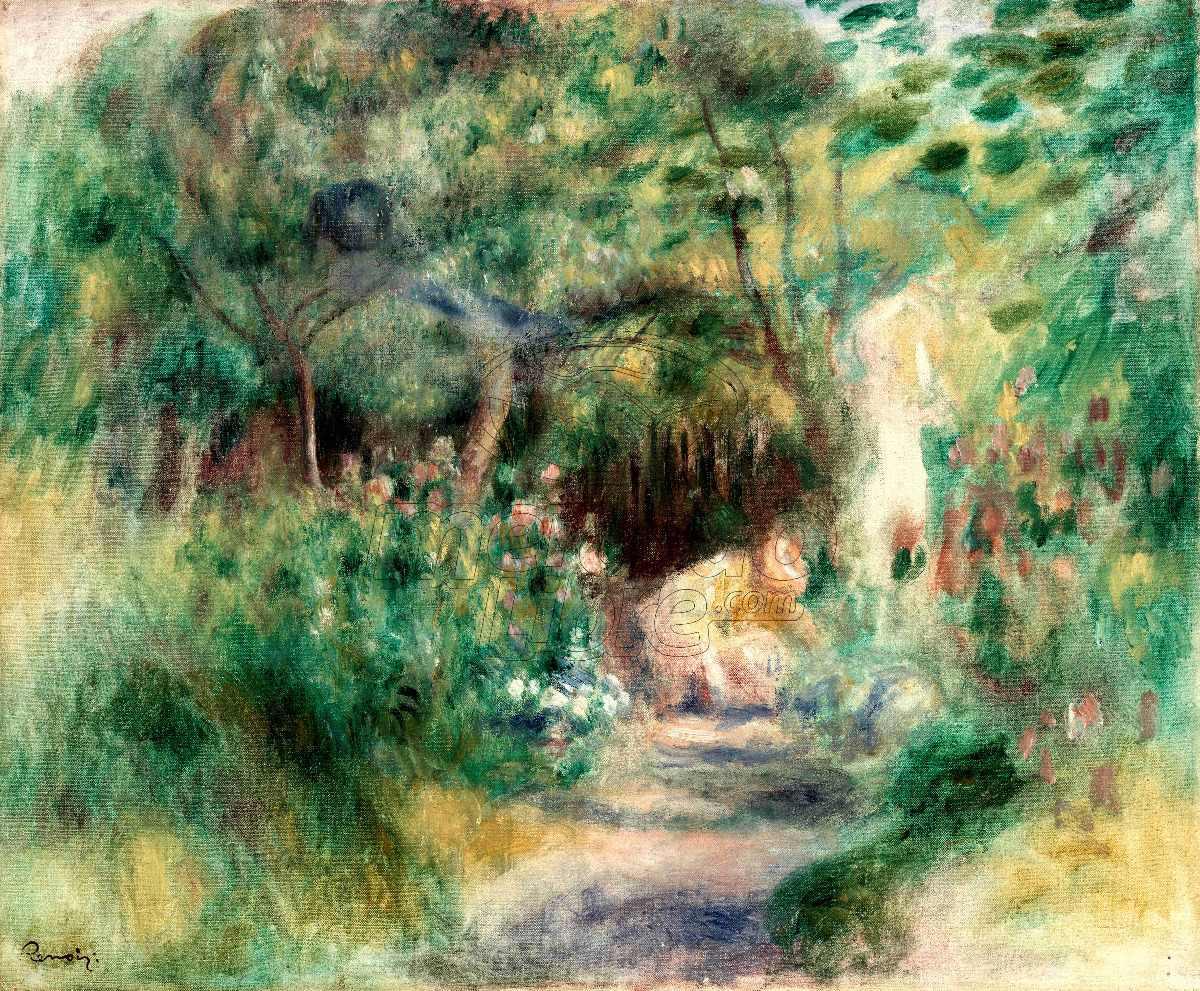 Lienzo Tela Poliester Auguste Renoir Paisaje Jardín 182x150
