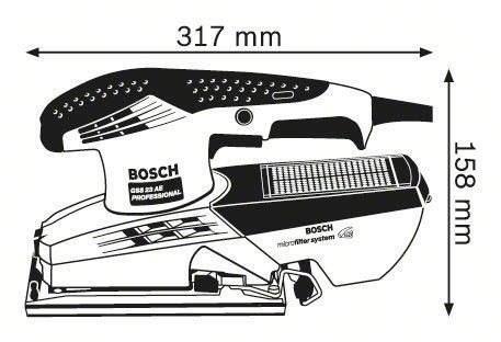 lijadora orbital 190w gss23ae bosch g p